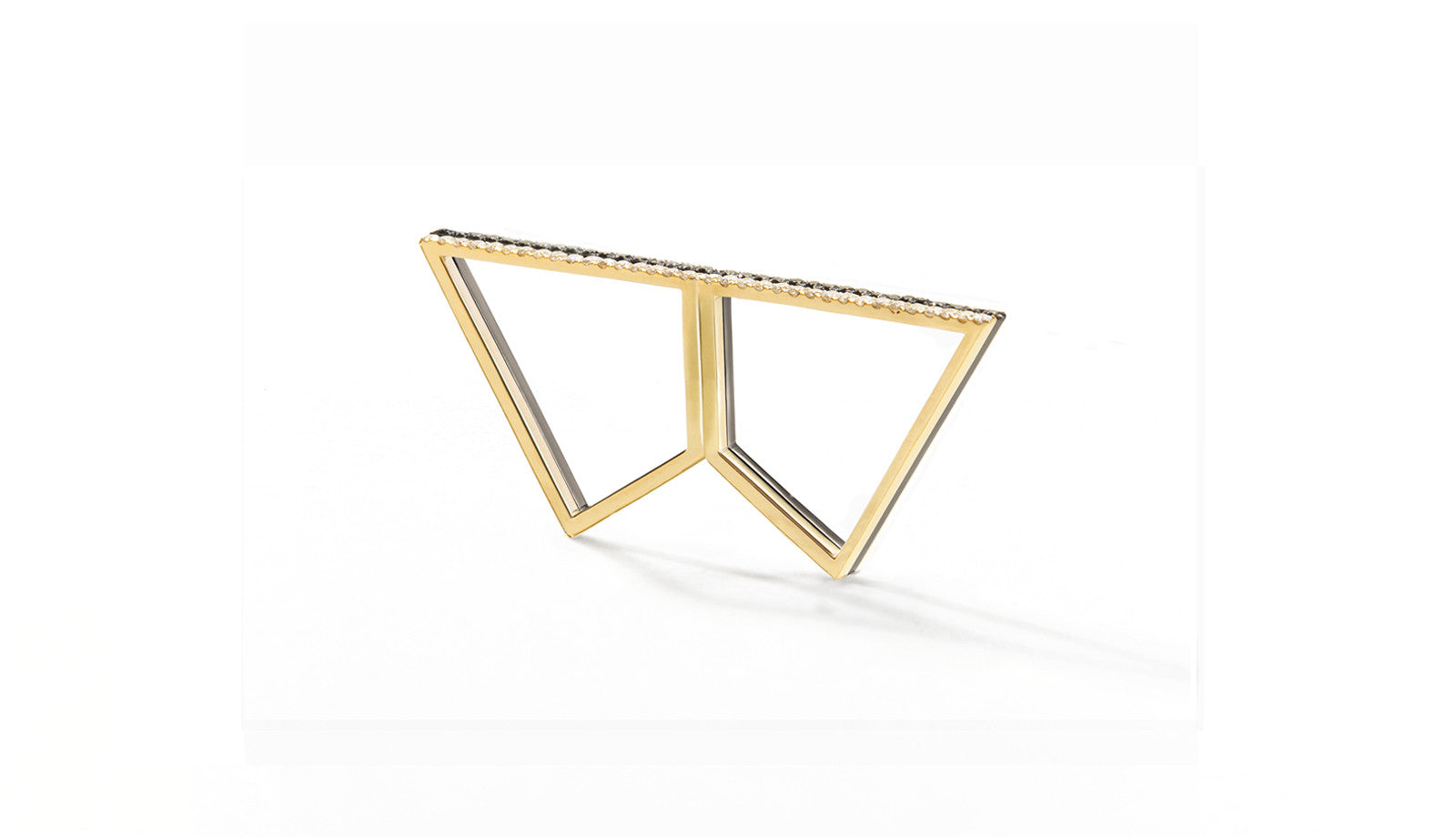 Sophie Birgitt Jewellery DOUBLE REFLECTION 18K Gun Metal Black & Yellow Gold (less diamonds)