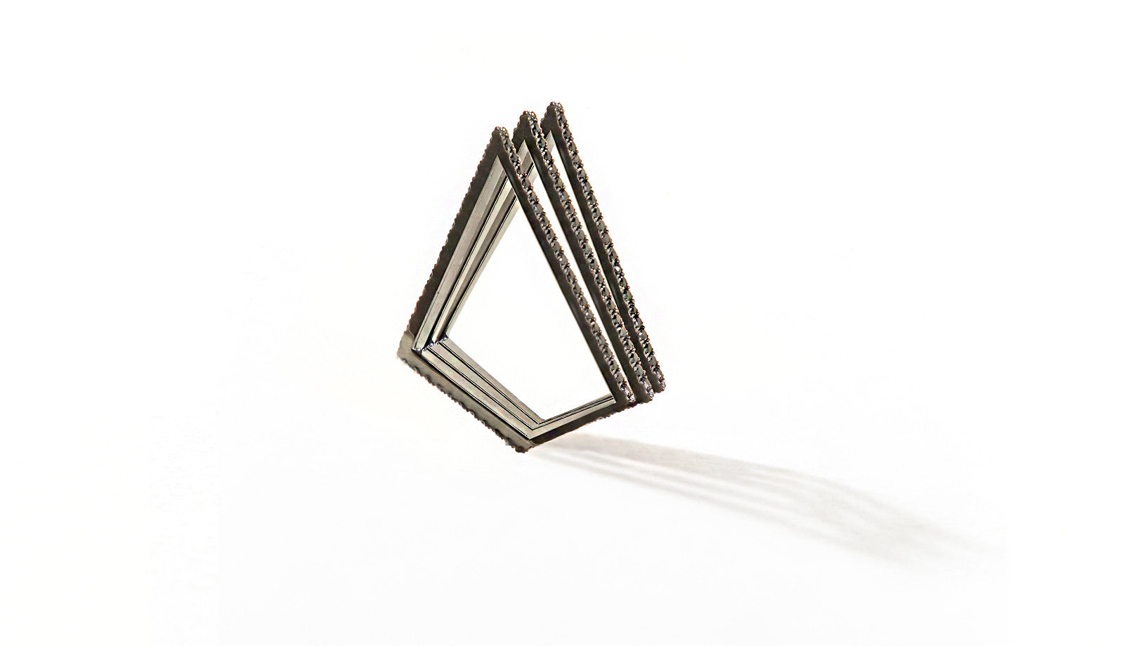 Sophie Birgitt Jewellery LOVE TRIANGLE 18K Gun Metal Black Gold