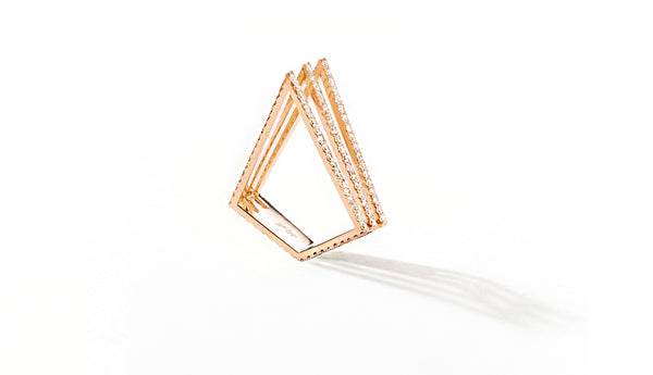 Sophie Birgitt Jewellery LOVE TRIANGLE 18K Rose Gold
