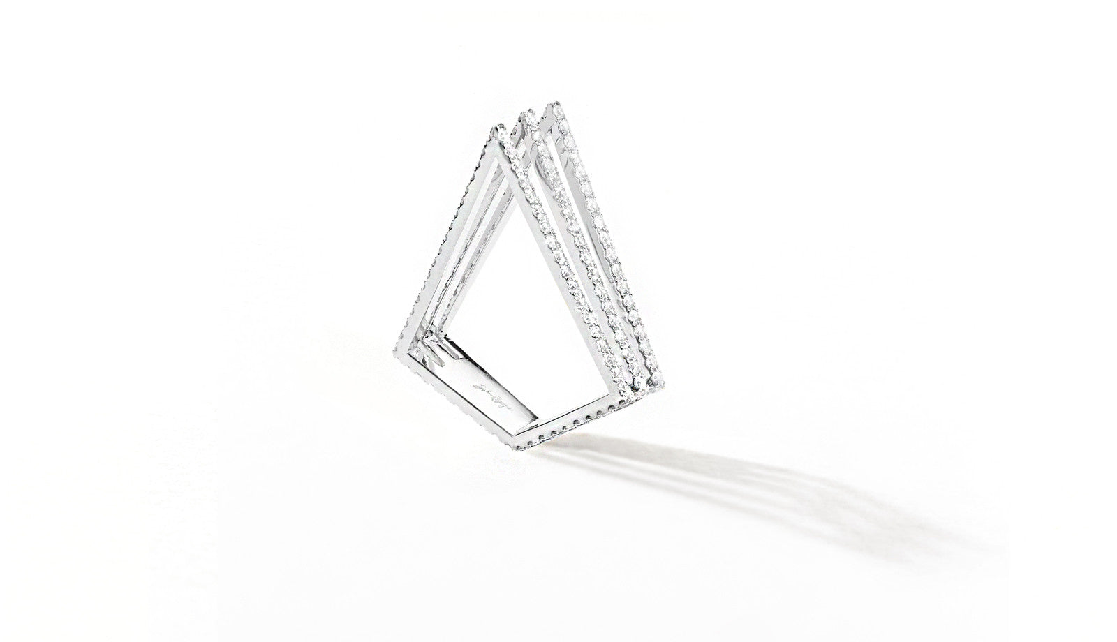 Sophie Birgitt Jewellery LOVE TRIANGLE 18K White Gold