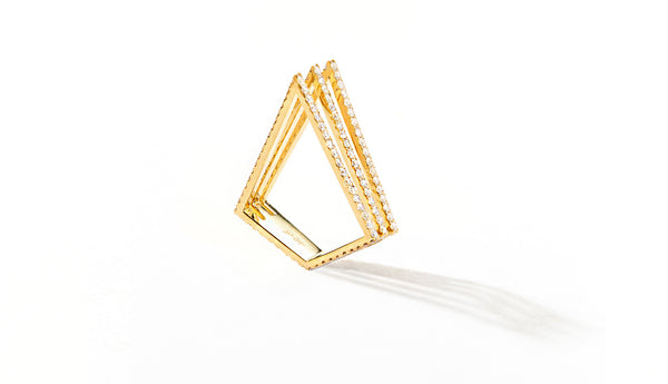 Sophie Birgitt Jewellery LOVE TRIANGLE 18K Yellow Gold