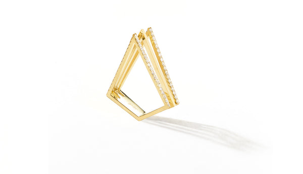 Sophie Birgitt Jewellery LOVE TRIANGLE 18K Yellow Gold (less diamonds)