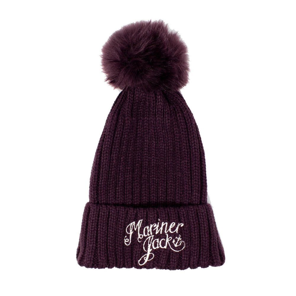 Mariner Jack Hats Plum Kids/Teen Mariner Jack Embroidered Bobble Hat - Plum