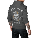 Men's Skull & Anchor Organic/Vegan Charcoal Hoodie