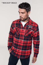 Mariner Jack Sherpa Lined Shirt - Red & Navy