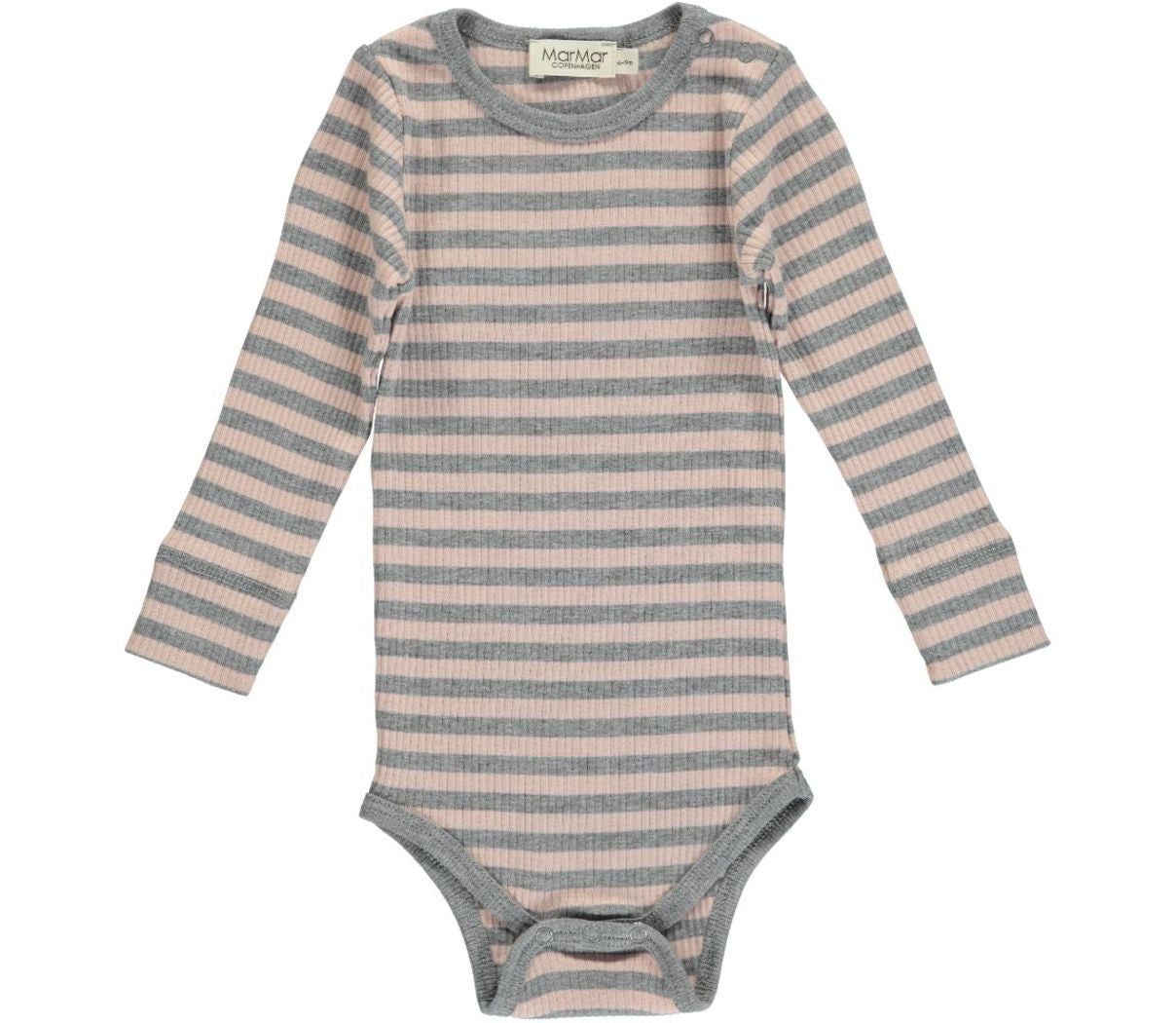 Modal Stripes Body LS, Cameo Rose / Grey Melange - MarMar