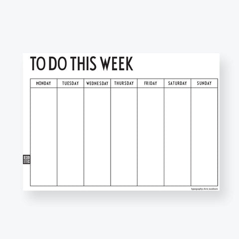 Weekly Planner - Design Letters