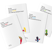 For kids: 4 work and dialogue books · English version