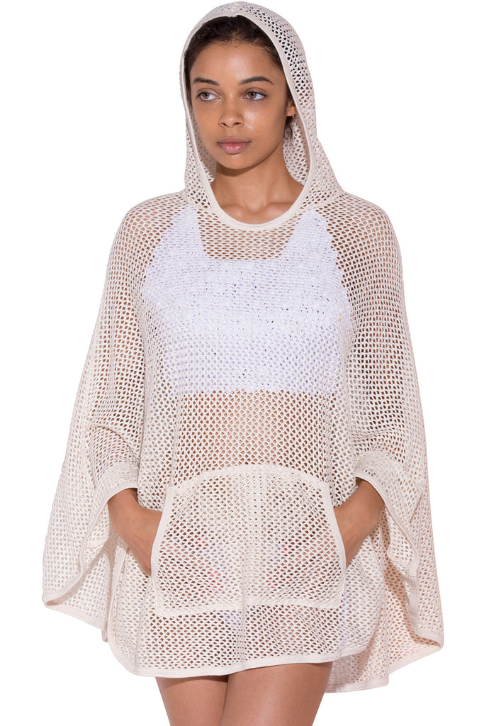 COTTON MESH PONCHO