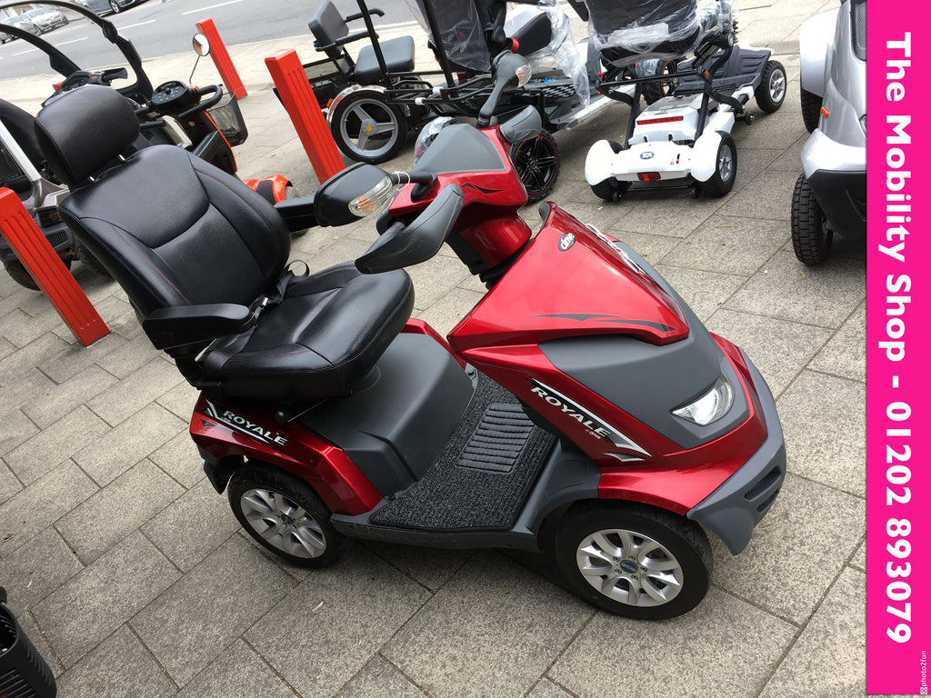 2015 DRIVE ROYAL 4 ROYALE MOBILITY SCOOTER RED 8 MPH ROAD LEGAL HEARTWAY