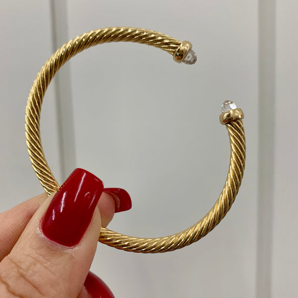 Mini Gold Cable Bracelet