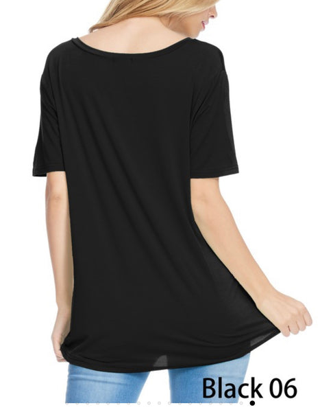 V NECK BAMBOO TOP
