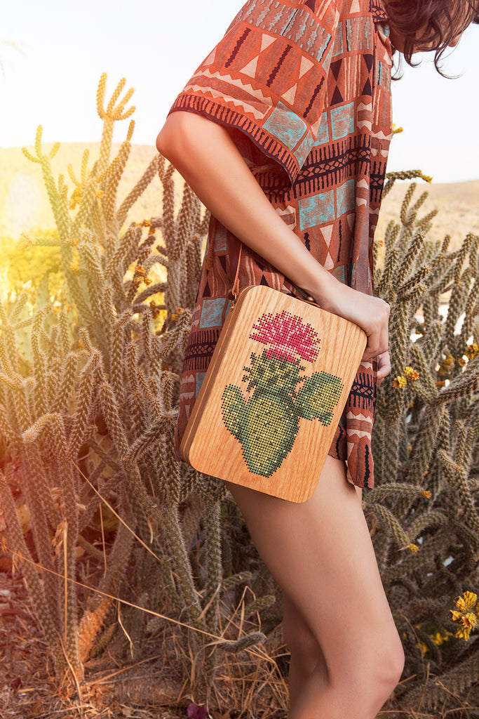 cactus wood bag by Grav Grav