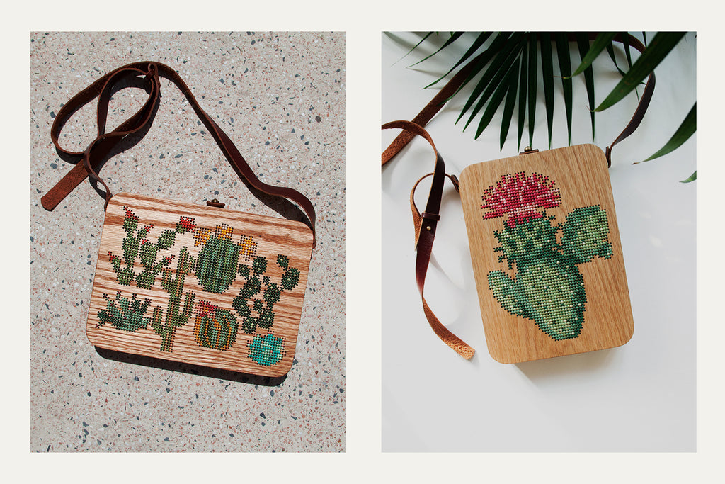 Plant Stitched Wood Backpack by Grav Grav