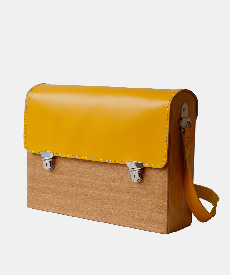 GRAV GRAV - Yellow Wooden Bag $110