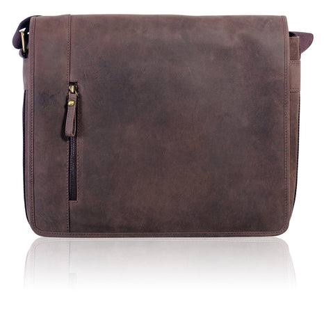 Men's Vintage Leather Laptop Bag - Leather Bags - Teals
