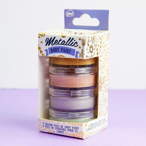 Set Of 4 Metallic Body Paint