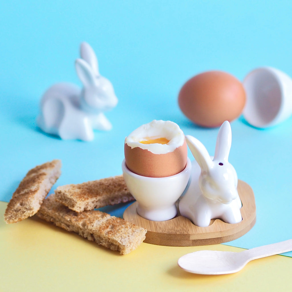 Egg Cup and Rabbit China Set