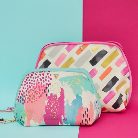 Paint Stripe Wash Bag