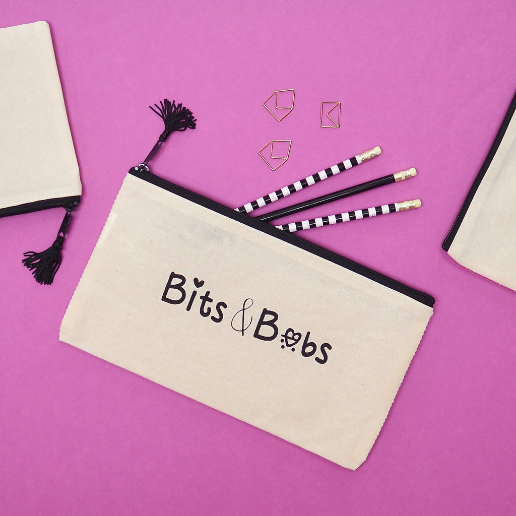 Bits and Bobs Pouch for Stationery or Make up
