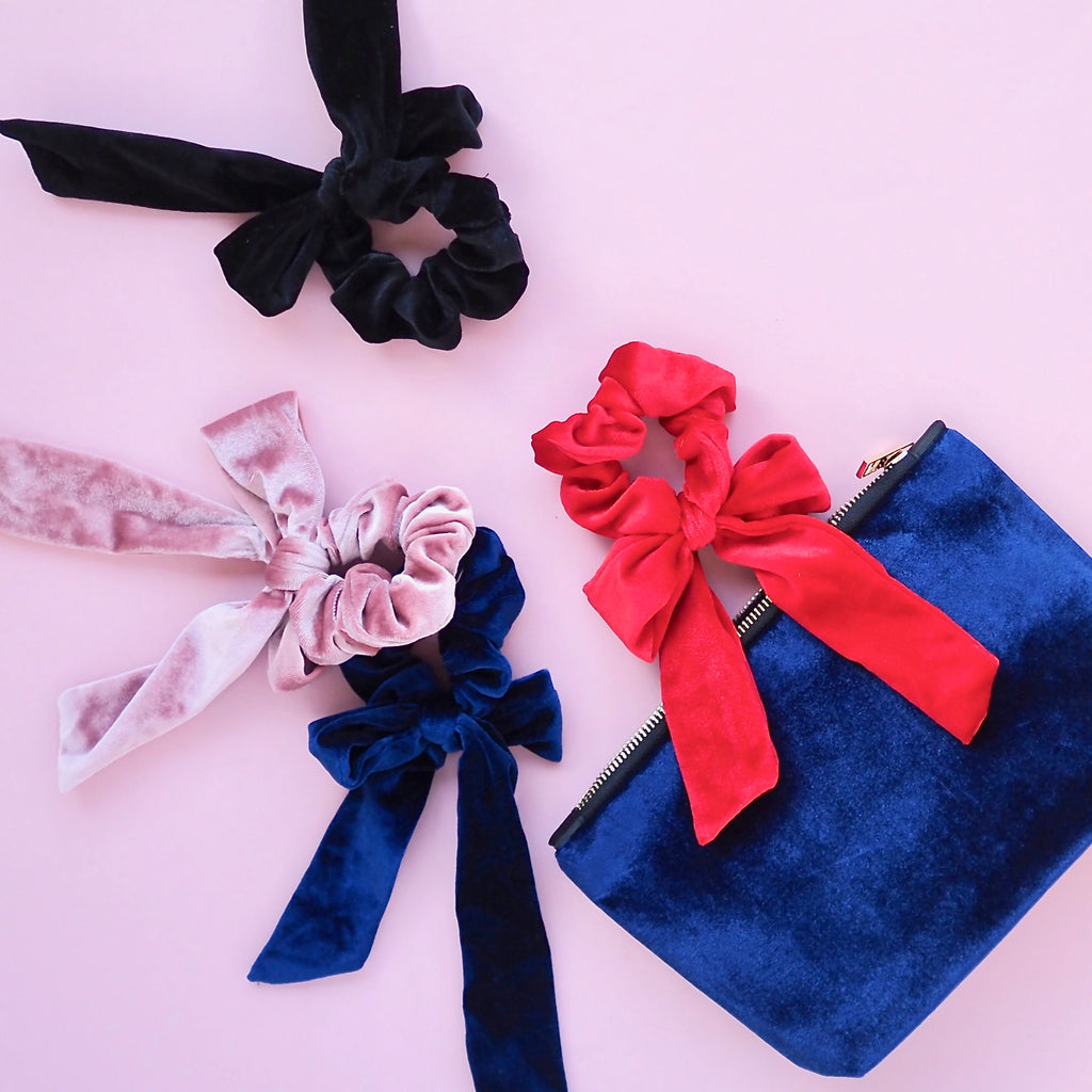 Velvet Bow Hair Scrunchies