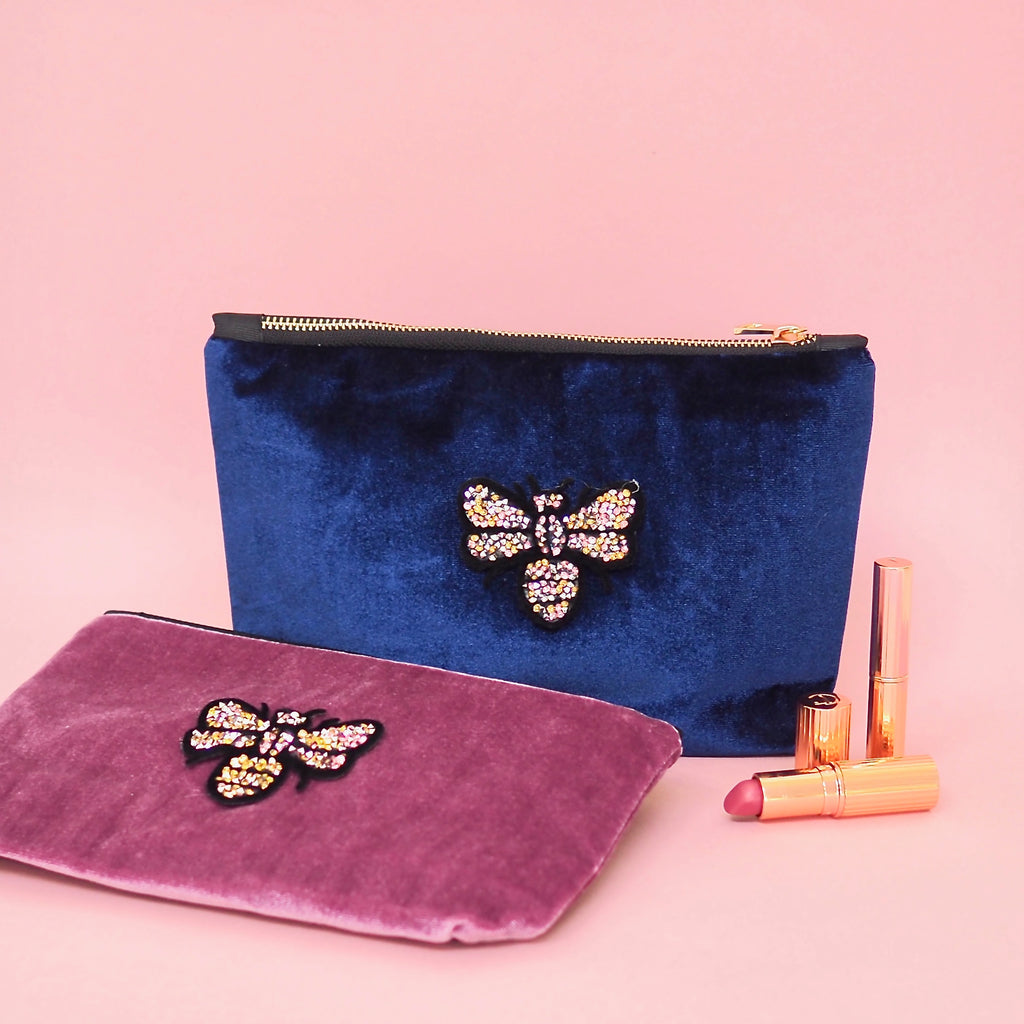 Velvet Butterfly Make Up Pouches