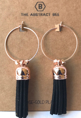 Large Tassel Hoop Earrings