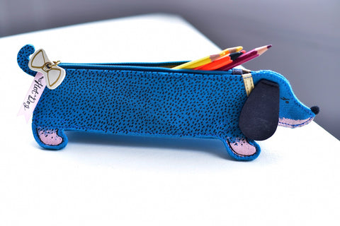 Over The Moon Sausage Dog Pencil Case
