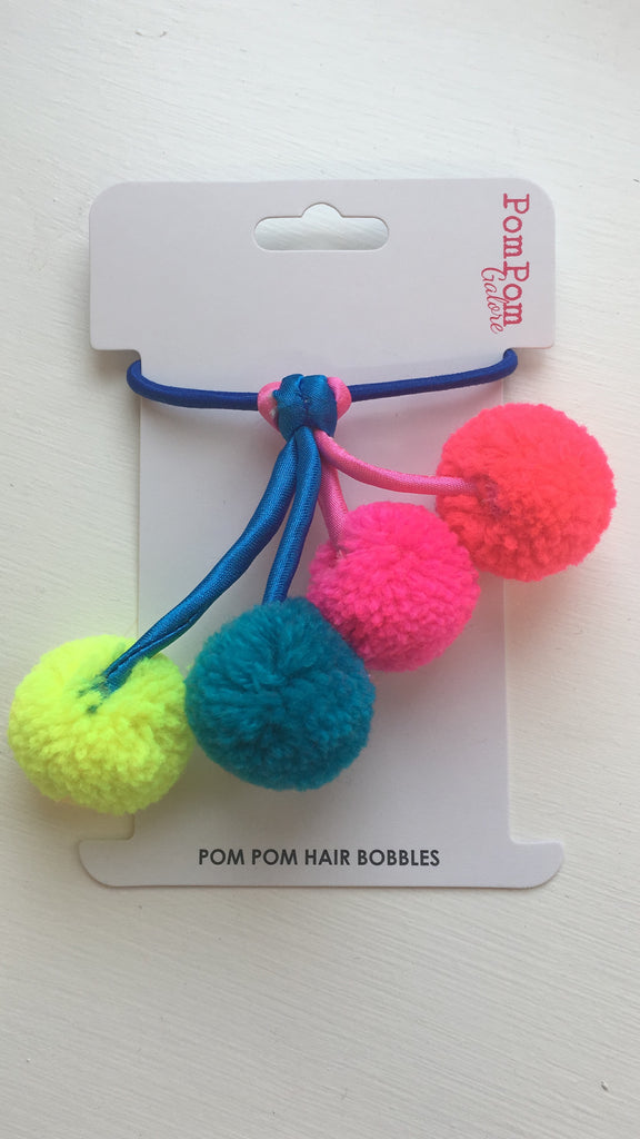 Pom Pom Dangle Hair Bobble