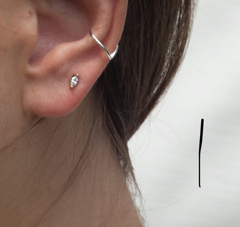 Sterling Silver Triangle Ear Cuff