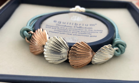 Seashore Shell Leather Bracelet