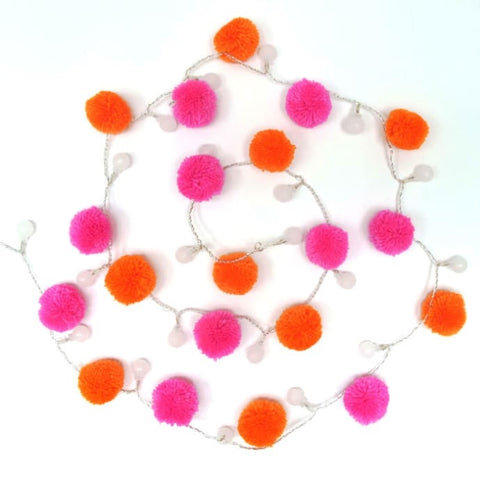Neon Light Pom Pom Garland