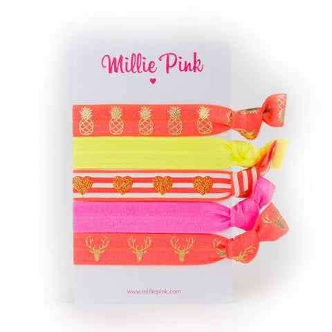 Print Hair Ties by Millie Pink