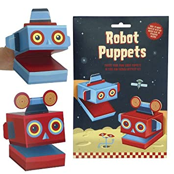 Set of two make your own Robot Puppets