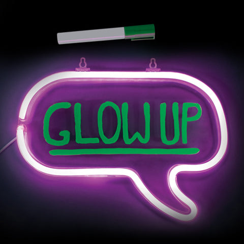 Neon Effect Write On Speech Bubble