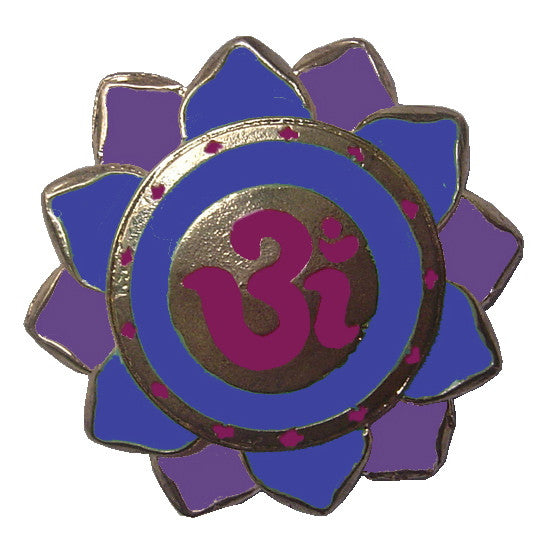 Hair Hook Aum Purple and Blue - Gold Ponytail Holder