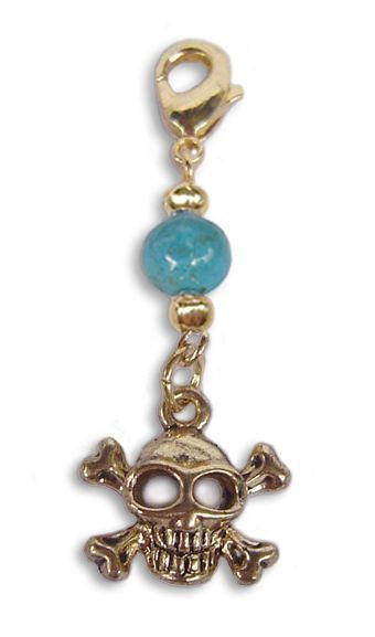 Charm Small Gold - Skull and Cross Bones