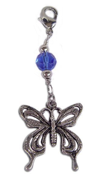 Charm Large Silver - Butterfly