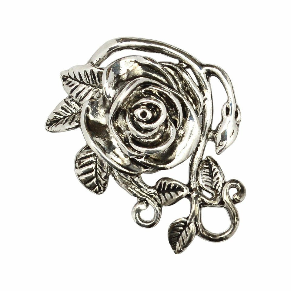 Hair Hook Rose - Silver,  Ponytail Holder