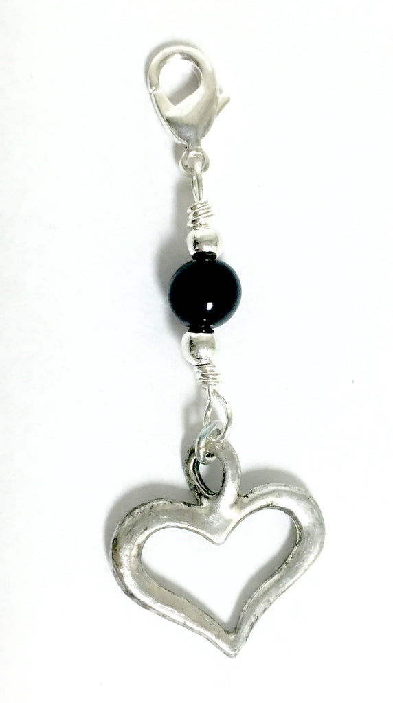 Charm Large Heart - Silver