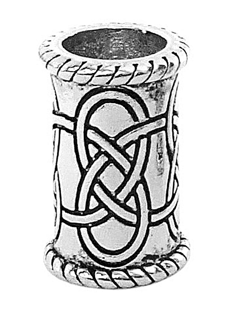 New! Celtic Strength Hair Bead - Silver Regular