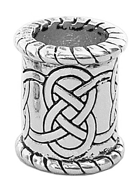 New! Celtic Strength Hair Bead - Silver Wide