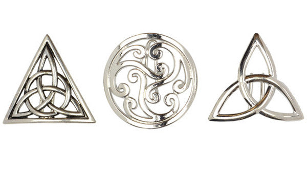 Hair Hook All Celtic Triple Set - Silver, Ponytail Holders