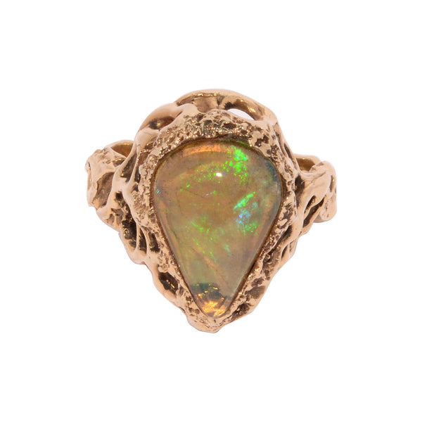Medieval Claw Fire Opal Ring