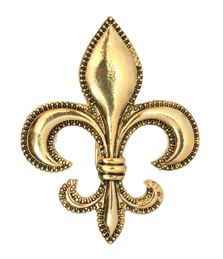 Hair Hook Fleur-de-lis - Gold, Ponytail Holder