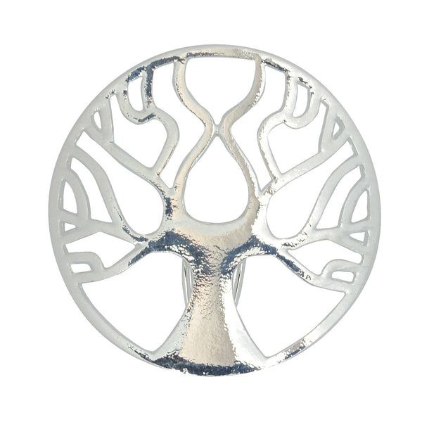 Hair Hook Tree of Life - Silver, Ponytail Holder