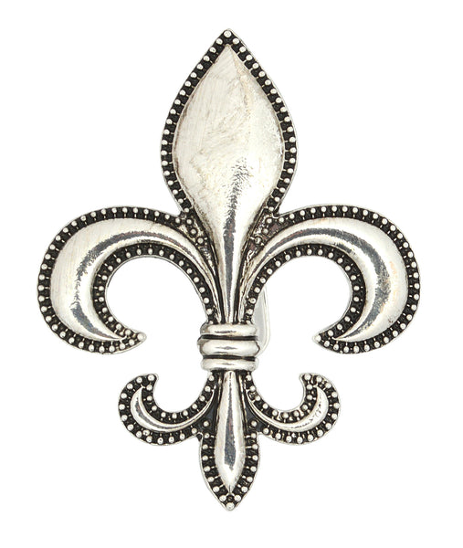 Hair Hook Fleur-de-lis  Silver, Ponytail Holder