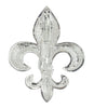 hair hook fleur-de-lis silver ponytail holder