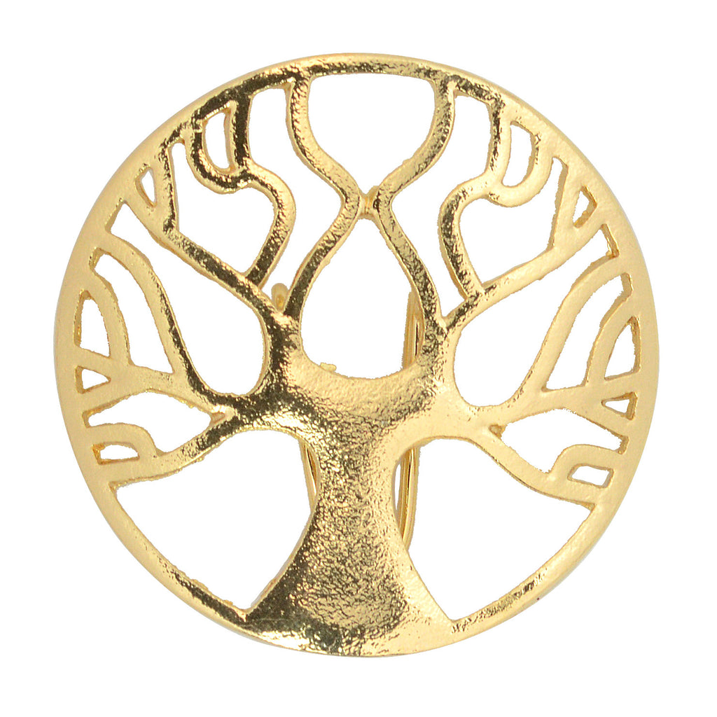 Hair Hook Tree of Life - Gold, Ponytail Holder