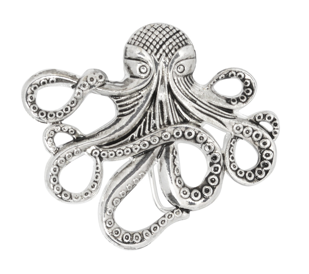 Hair Hook Cthulhu - Silver,  Steampunk and Pirate Ponytail Holder